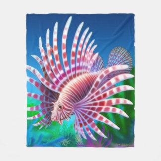 Majestic Pacific Lionfish Fleece Blanket
