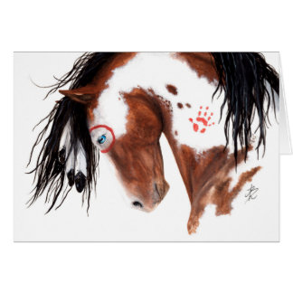 Majestic Painted Pony Horse by BiHrLe Card
