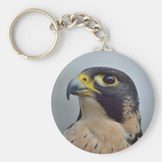 Majestic Peregrine falcon Basic Round Button Keychain