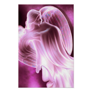 Majestic Pink Angel canvas print