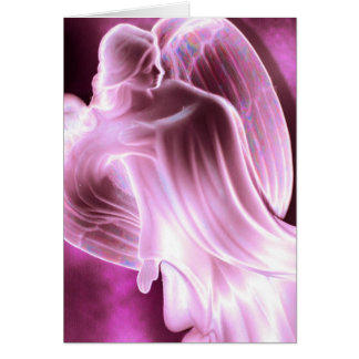 Majestic Pink Angel Greeting Card