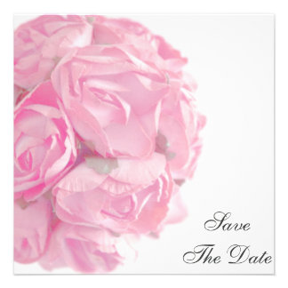 Majestic Pink Roses Save The Date Announcement