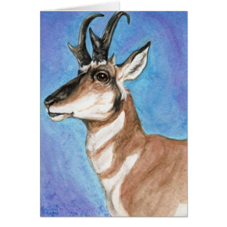 Majestic Pronghorn Antelope Art Card