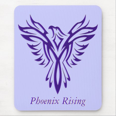 Majestic Purple Phoenix Rising Mouse Pad