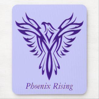 Majestic Purple Phoenix Rising Mousepad