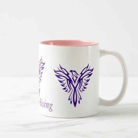 Majestic Purple Phoenix Rising two-tone mug