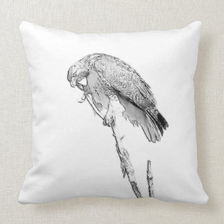 Majestic Red-Tailed Hawk Sketch Custom Pillow
