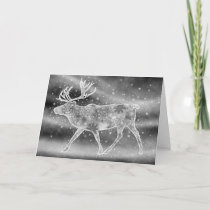 Majestic Reindeer Art Holiday Card