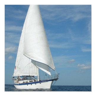 """Majestic Sail Invitations 5.25"""" Square Invitation Card"""