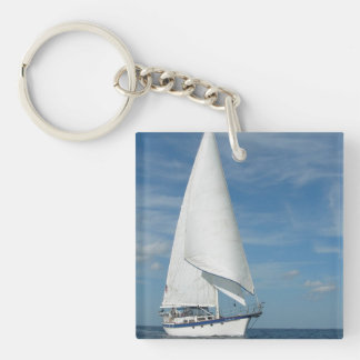 Majestic Sail Keychain