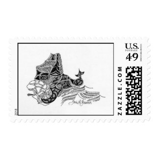 """Majestic Sea Monster"" Stamp"