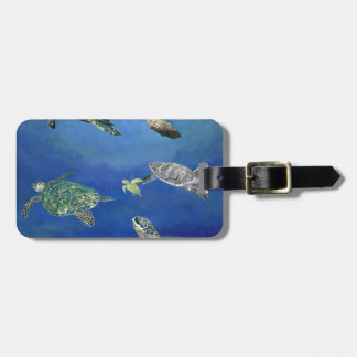 Majestic Sea Turtles Luggage Tag