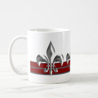 Majestic Silver Bordeaux Fleur de Lis Coffee Mug