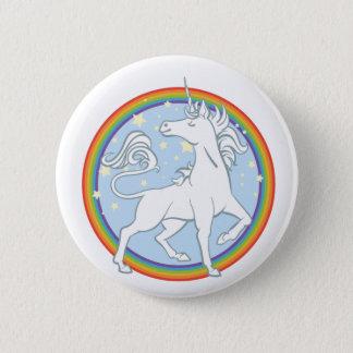 Majestic Sparkle Rainbow Unicorn Pinback Button