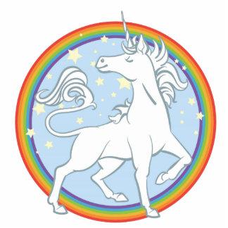 Majestic Sparkle Rainbow Unicorn Statuette
