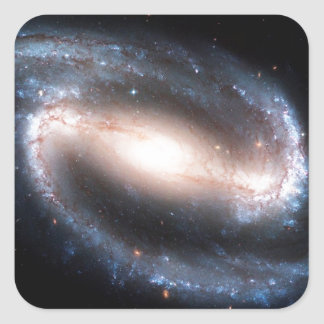 Majestic Spiral Galaxy Print Milky Way Andromeda Square Sticker