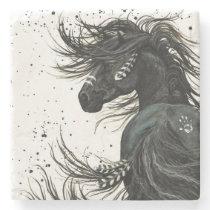 Majestic Spirit Horse by Bihrle Stone Coaster