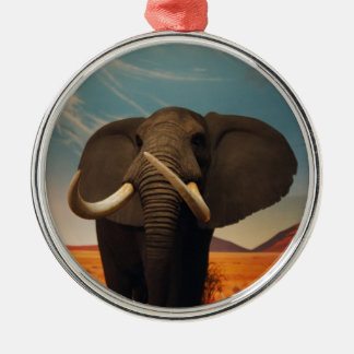 Majestic Stature Round Metal Christmas Ornament