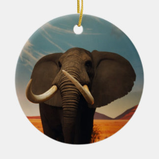 Majestic Stature Double-Sided Ceramic Round Christmas Ornament