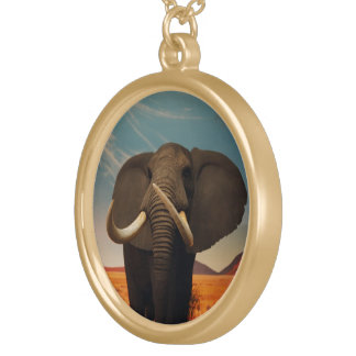 Majestic Stature Round Pendant Necklace