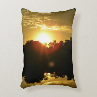 Majestic Summer Sunrise Accent Pillow