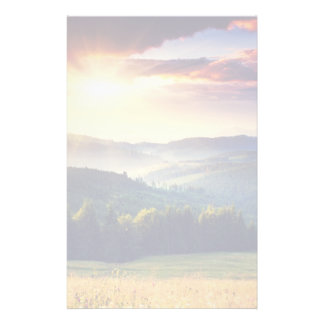 Majestic sunset in the mountains landscape 4 stationery