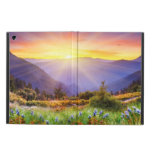 Majestic sunset in the mountains landscape iPad air covers