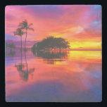 "Majestic Sunset | Wailea Beach, Maui, Hawaii Stone Coaster<br><div class=""desc"">Majestic Sunset and Reflection at Wailea Beach,  Maui,  Hawaii</div>"