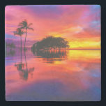 "Majestic Sunset | Wailea Beach, Maui, Hawaii Stone Coaster<br><div class=""desc"">Majestic Sunset and Reflection at Wailea Beach,  Maui,  Hawaii</div>"