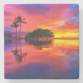 Majestic Sunset | Wailea Beach, Maui, Hawaii Stone Coaster