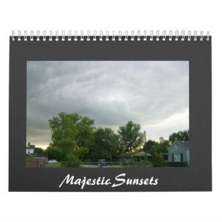 Majestic Sunsets & Sunrises Calender Calendar