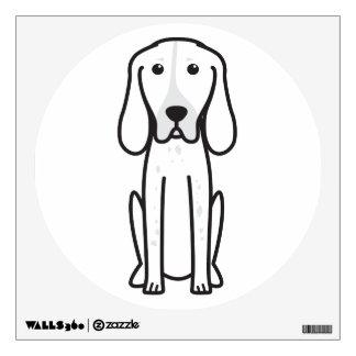 Majestic Tree Hound Dog Cartoon Wall Decal