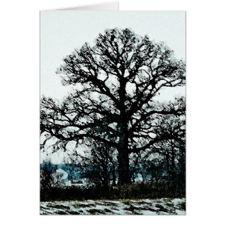 Majestic Tree in the Snow Card