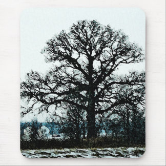 Majestic Tree in the Snow Mouse Pad