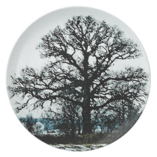 Majestic Tree in the Snow Plate