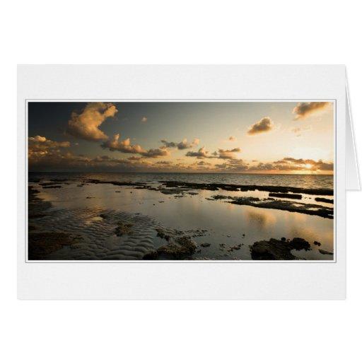 Majestic tropical sunrise card