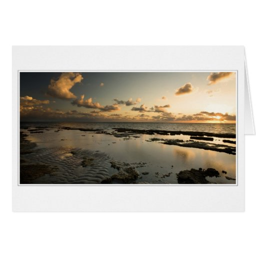 Majestic tropical sunrise greeting card