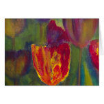 """Majestic Tulip"" impressionist art Stationery Note Card"