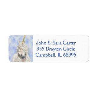 Majestic Unicorn address label