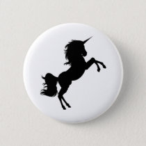 Majestic Unicorn on Hind Legs Button