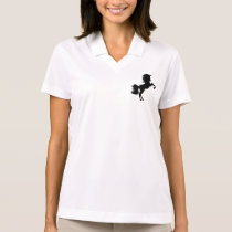 Majestic Unicorn on Hind Legs Polo Shirt