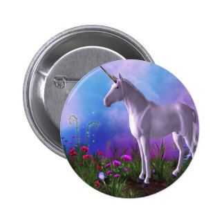 Majestic Unicorn Pinback Button