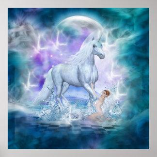 Majestic Unicorn Poster