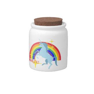 Majestic Unicorn Vintage 80's Style Candy Jar