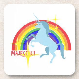 Majestic Unicorn Vintage 80's Style Coasters