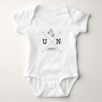 Majestic Unicorn X Crest Baby Bodysuit