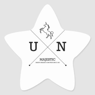 Majestic Unicorn X Crest Miniature Star Sticker