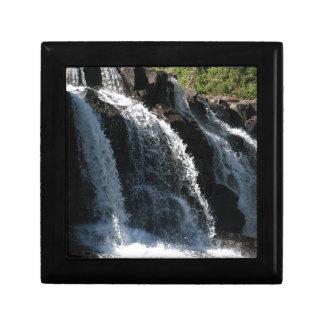 Majestic Waterfall - Gooseberry Falls by the Trees Keepsake Box