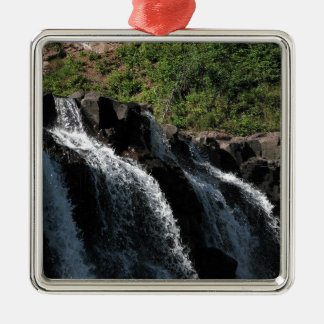 Majestic Waterfall - Gooseberry Falls by the Trees Metal Ornament