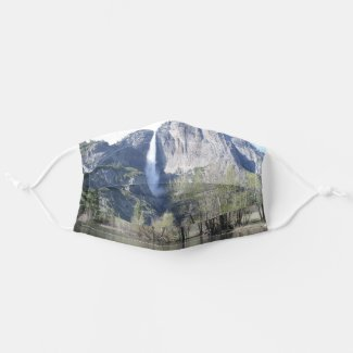 Majestic Waterfall in Yosemite Park Cloth Face Mask